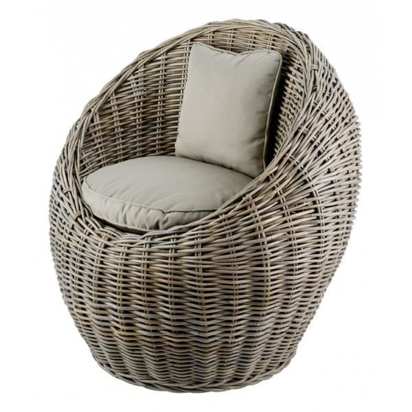 fauteuil boule en rotin kubu achat vente fauteuil. Black Bedroom Furniture Sets. Home Design Ideas