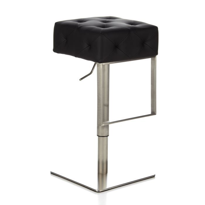 tabouret de bar tabouret haut pablo en acier achat vente tabouret de bar acier pu. Black Bedroom Furniture Sets. Home Design Ideas