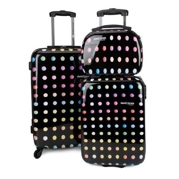 bagage david jones lot de 2 valise 1 vanity rond achat vente set de valises 2009931818454. Black Bedroom Furniture Sets. Home Design Ideas