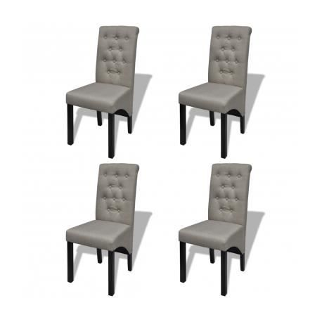 Chaise salle manger gris x 4 for Chaise salle a manger gifi