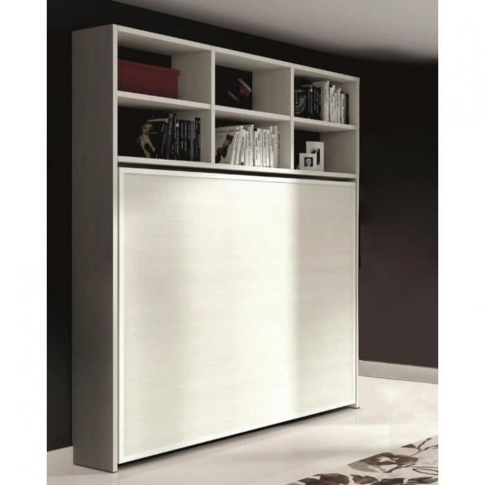armoire lit escamotable athena avec tag res g achat vente lit escamotable armoire lit. Black Bedroom Furniture Sets. Home Design Ideas
