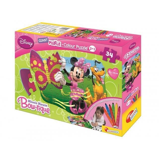 Puzzle a colorier minnie achat vente kit de dessin puzzle a colorier minnie cdiscount - Puzzle a colorier ...