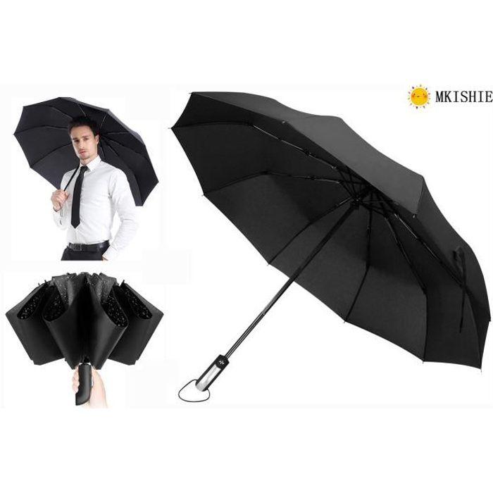Basics Parapluie avec soufflet de d/écompression Gris