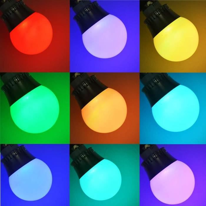 e27 e14 5w rgb led couleur lumi re de changer la lampe ampoule de 85 265v avec t l commande. Black Bedroom Furniture Sets. Home Design Ideas