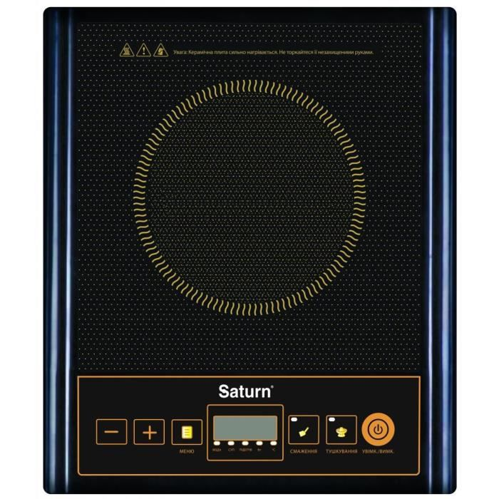 saturn plaque induction 2000w 10 niveaux de puissance electrom nager. Black Bedroom Furniture Sets. Home Design Ideas