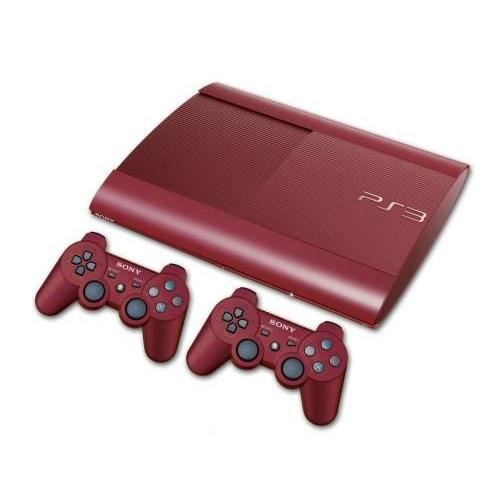 console sony ps3 ultra slim 500 go rouge 2 ma achat. Black Bedroom Furniture Sets. Home Design Ideas