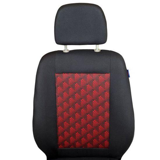 Noir-Rouge Housses de Siège pour Iveco Daily Housse de Siège de Voiture Kit 1+2