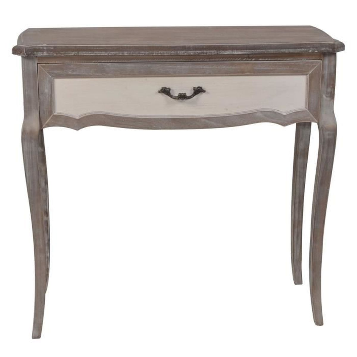 console r verie 80 cm 1 tiroir gris achat vente console console r verie 80 cm 1 tiro. Black Bedroom Furniture Sets. Home Design Ideas