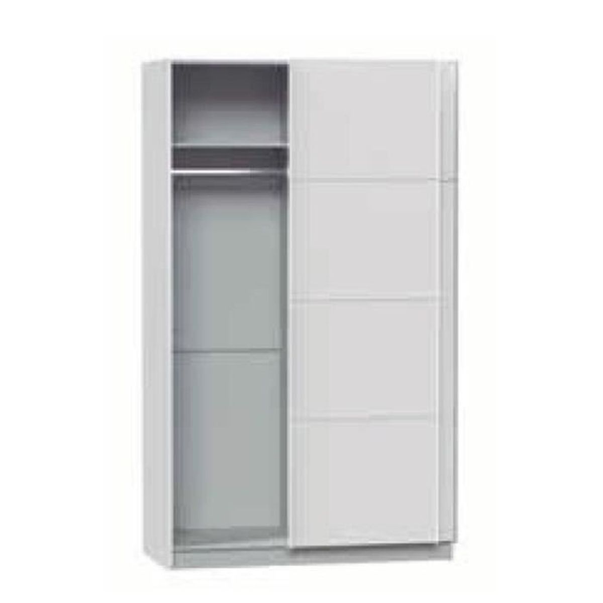 armoire avec 2 portes coulissantes coloris blanc dim 180 x 60 x 220 cm achat vente. Black Bedroom Furniture Sets. Home Design Ideas