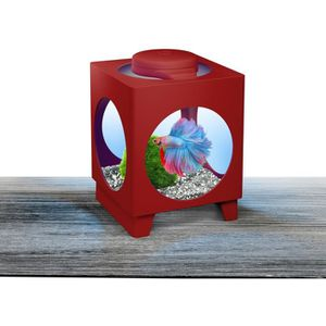 TETRA Aquarium Betta Projecteur 1,8 L - 17x23x23,5 cm - Rouge