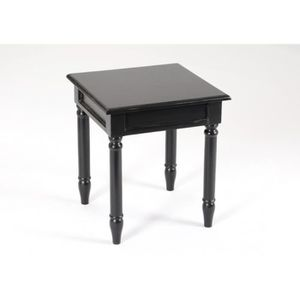 bout de canape noir achat vente bout de canape noir pas cher cdiscount. Black Bedroom Furniture Sets. Home Design Ideas