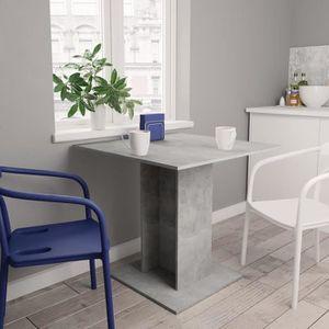 TABLE À MANGER SEULE CEN Table de salle à manger Gris béton 80 x 80 x 7