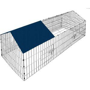 CAGE Cage à lapin rongueur Enclos clapier avec pare-sol