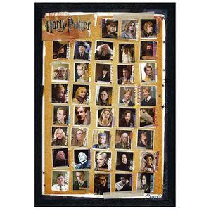 AFFICHE - POSTER Poster 61x91,5cm cadre en bois noir Montage de Har