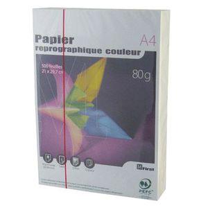 PAPIER IMPRIMANTE Ramette papier couleur A4 First 500 feu. - Ivoire