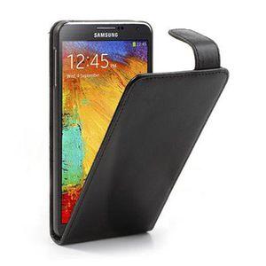 HOUSSE - ÉTUI Etui Vertical Sobre Noir Galaxy Note 3
