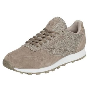 Reebok Homme Chaussures Baskets CL Leather Ksp Gris