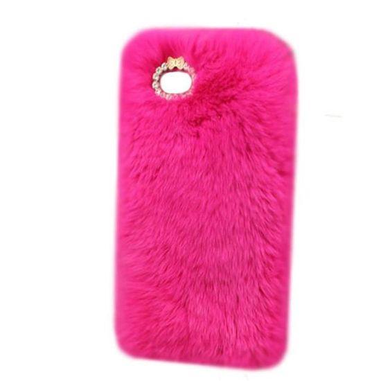 COQUE IPHONE 5S, fourrure rose - 960x - réf : 16545 - Achat coque ...