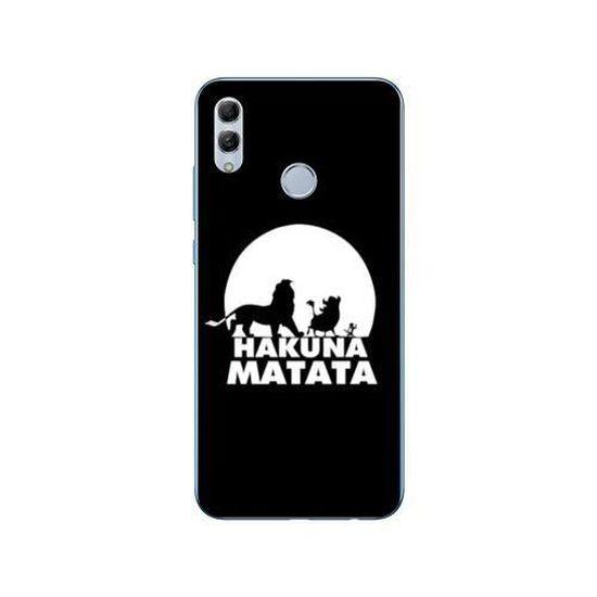 Coque Samsung Galaxy A40 Roi Lion - Hakuna Matata Noir taille unique
