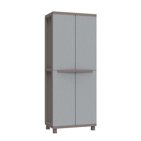 35 x Terry Base Armoire Haute à colonne en plastique Tuttopiani 2350 RUW gris