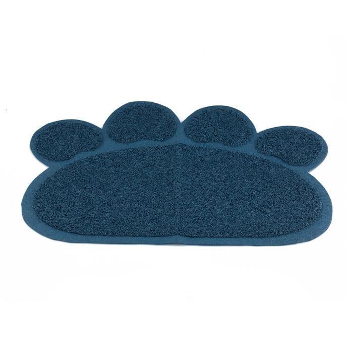 tapis de litière pour chat, chiens animaux de compagnie chats tapis de lit pour aliments, motif de pied, 23.62''x17,72 '', 2 colo A5