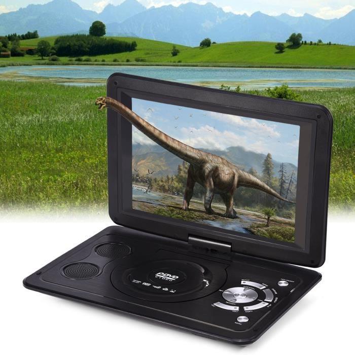 13.9- Lecteur DVD Portable HD TV Résolution de l'Ecran LCD 16: 9 avec Résolution de 800 * 480 pour Maison Voiture