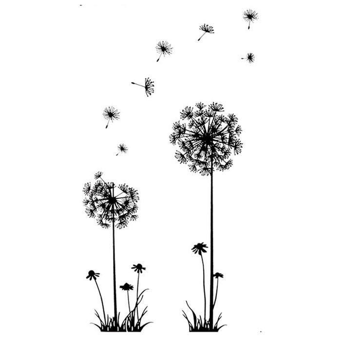 STICKER Noir Creative PVC pissenlit Fleur Plante Arbre Grand amovible Accueil Sticker mural S appshopee®991