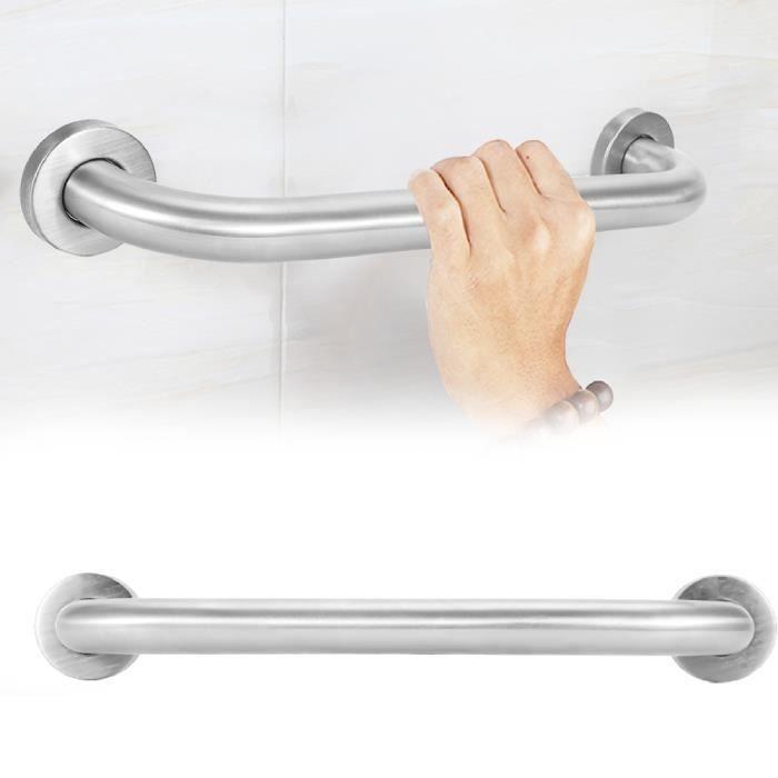 Barre d'Appui pour Salle de Bains (Taille: 35cm) Poignée Baignoires Mural Barre de maintien appui de douche support serviette -ABI
