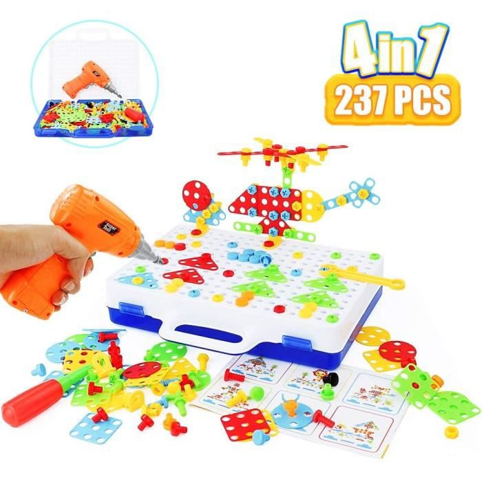 Jeux de construction Symiu Jeux de Construction Kit Mosaique Enfant Jeux - 3D Puzzle Educatif Montessori Assemblage avec 52969