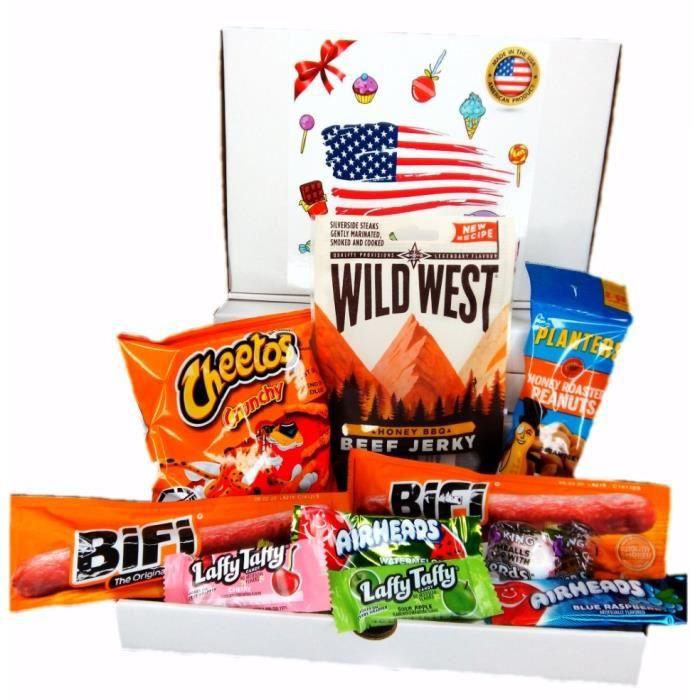 PACK SUCRÉ SALÉ snacks bonbon americain import etats unis box pas cher kit melange confiserie friandises americains bonbons