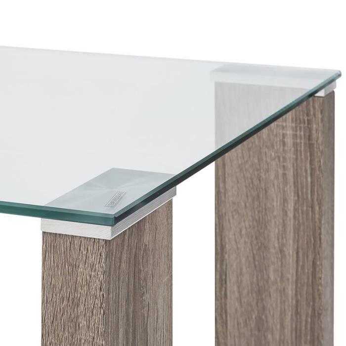 Table basse en verre trempé Pure Design TOWER