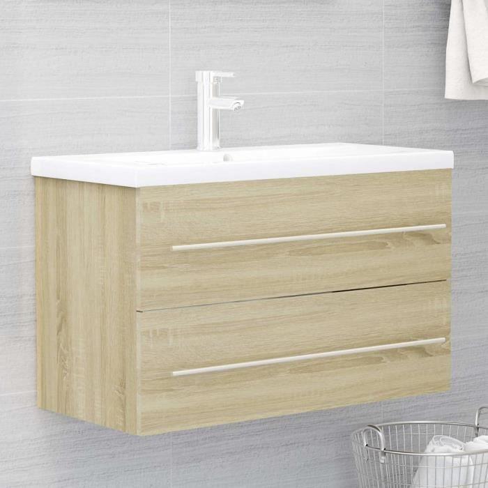 Meuble de Salle de Bain sous lavabo, Meuble de Rangement sous Vasque Meuble sous Vasque Meuble sous Vasque Chêne Sonoma [448]