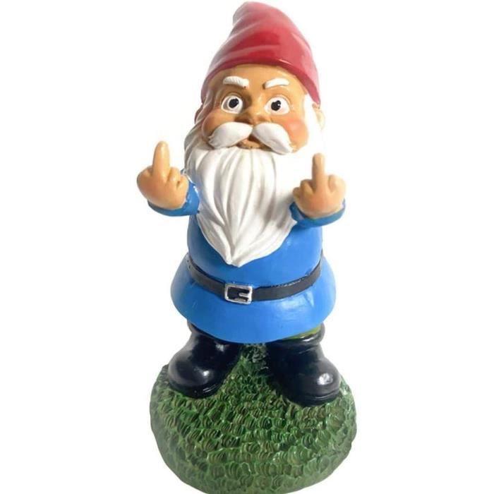STATUE Gnome Statue miniature Jardin Ornement ext&eacuterieur Micro Paysage D&eacutecoration Barbe Blanche Nain pour Maison ca111