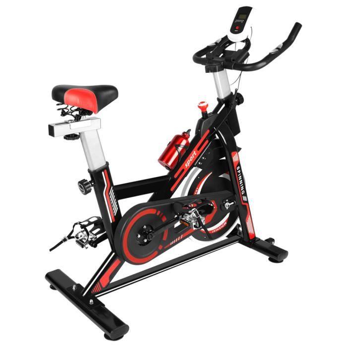 [Yezoos] Vélo d'appartement Cardio Vélo Biking,Petit Exercice de Fitness Indoor avec l'Ecran, Niveaux de résistance réglables