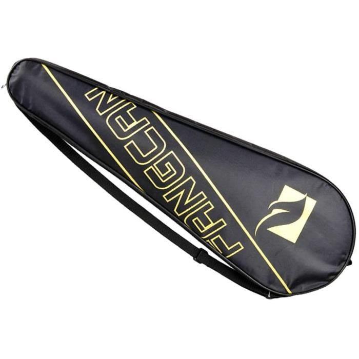 Tennis Badminton Housse de Protection pour Raquette Simple pour Raquette Oxford Support pour étui de Rangement Jaune