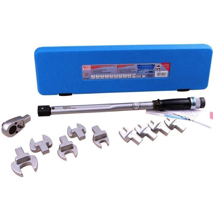 Clé dynamométrique clé plate de 13 à 30mm + Cli