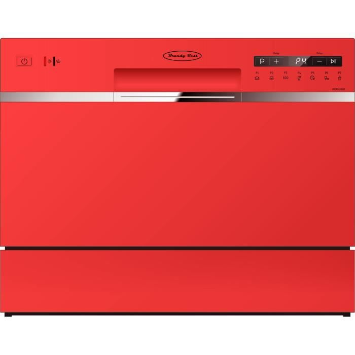 Brandy Best RED6D Lave-vaisselle compact 6 couverts Rouge