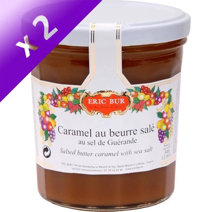 [LOT DE 2] ERIC BUR Caramel au Beurre Salé au Sel de Guérande - 340 g