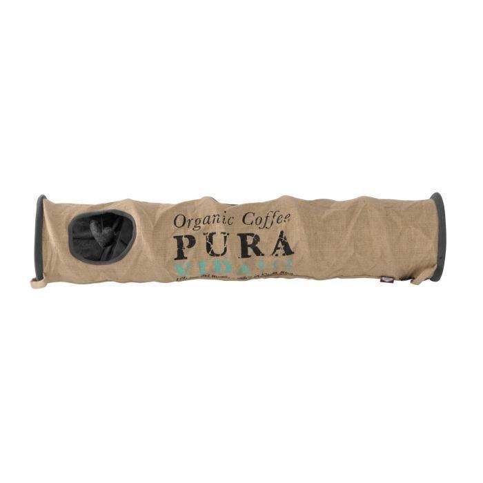 D&ampD Tunnel pour chat Pura Vida 25x120 cm Brun et Anthracite 434/436455