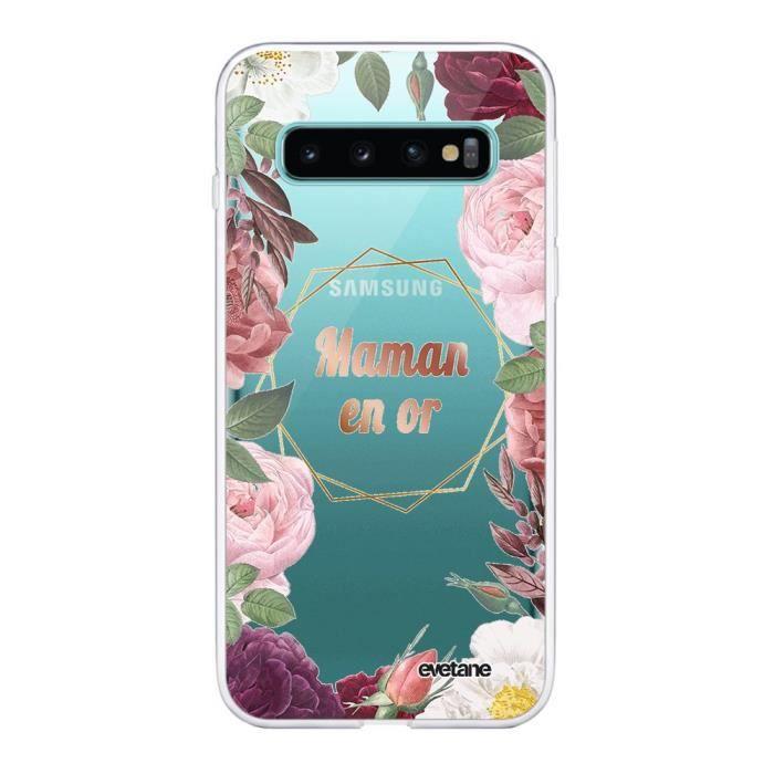 Coque Samsung Galaxy S10 360 intégrale transparente Coeur Maman D'amour Ecriture Tendance Design Evetane.