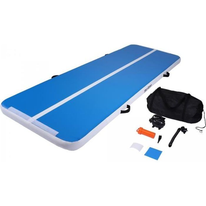 GORILLA SPORTS Tapis de gym gonflable AirTrack 300 x 100 x 10 cm