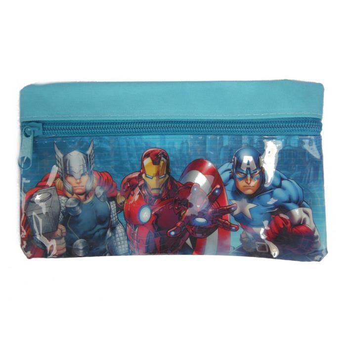 Trousse enfant Avengers Disney toilette zip bleu