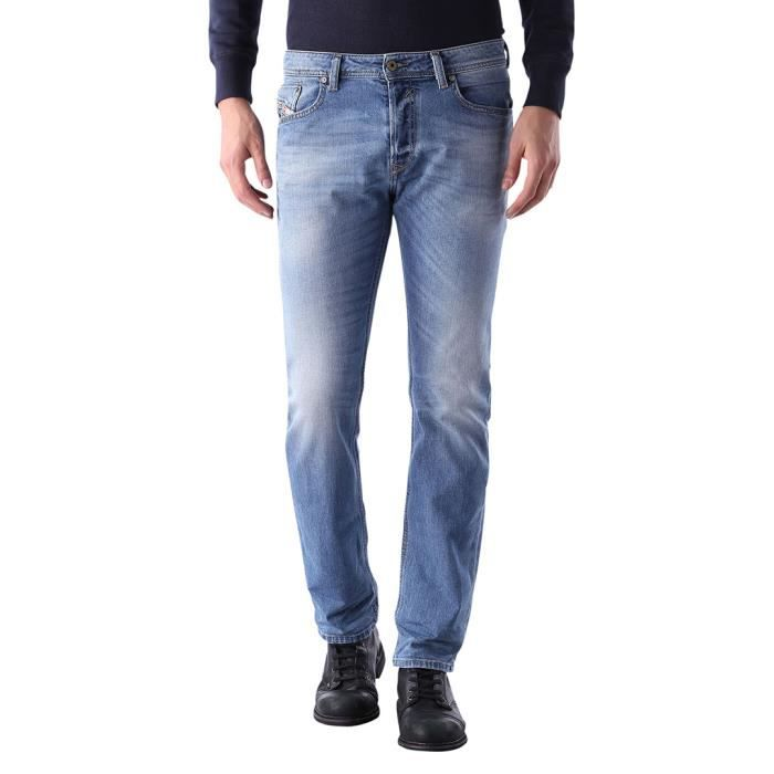 Diesel Homme Waykee 0842H Regular Straight Jeans, Bleu