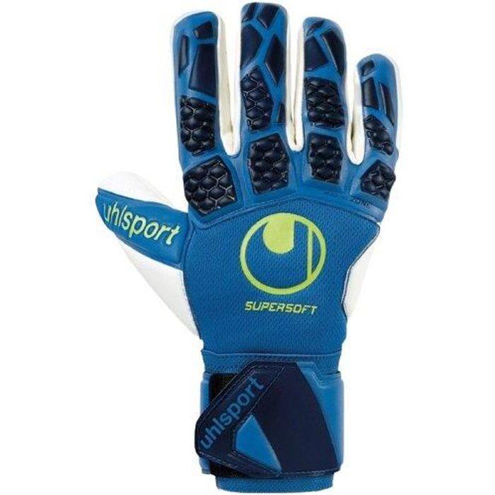 Gants de gardien de but Uhlsport Hyperact Supersoft HN - bleu nuit/blanc/jaune - 8