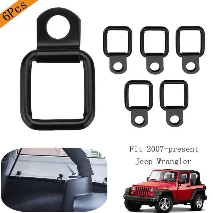NEUFU 6Pcs Noir D-anneaux D-bagues Cargo Pour Jeep
