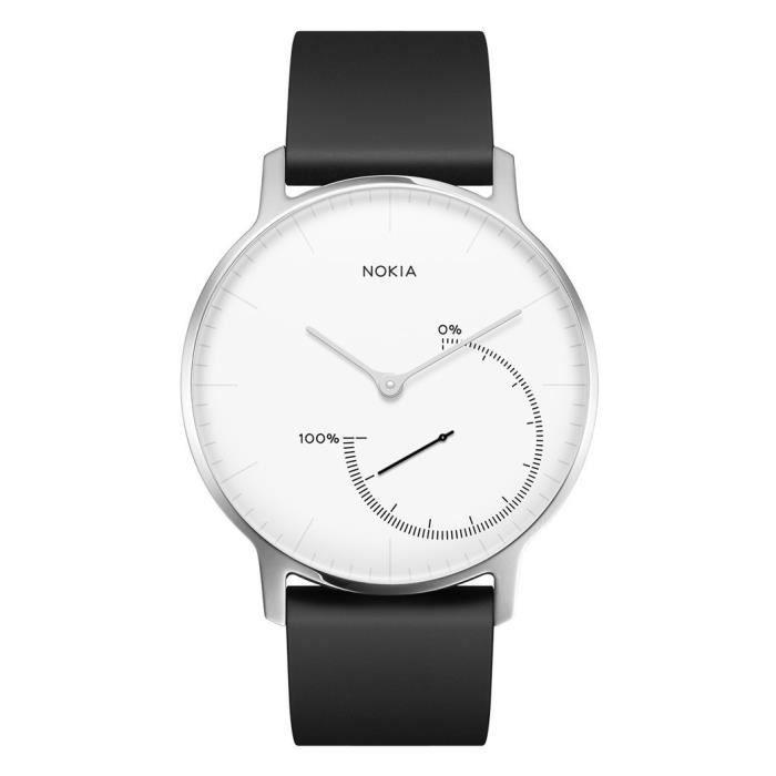 Withings Nokia Steel-Montre connectée-Suivi d'activité et de Sommeil Adulte Unisexe, Blanche, Medium