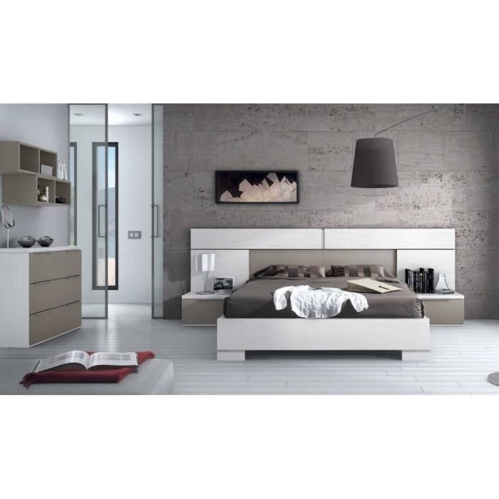 Chambre contemporaine taupe design de maison for Decoration chambre a coucher contemporaine