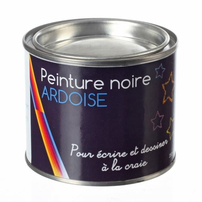 peinture noire ardoise en pot de 250 ml achat vente. Black Bedroom Furniture Sets. Home Design Ideas
