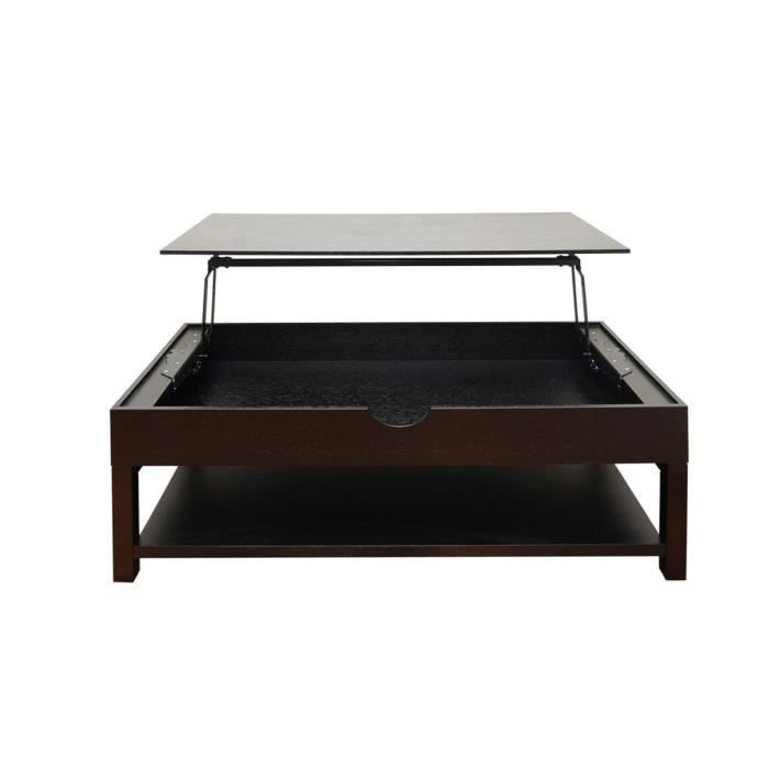 table bois relevable Vente HYPE Achat wengé Table basse mnw0N8
