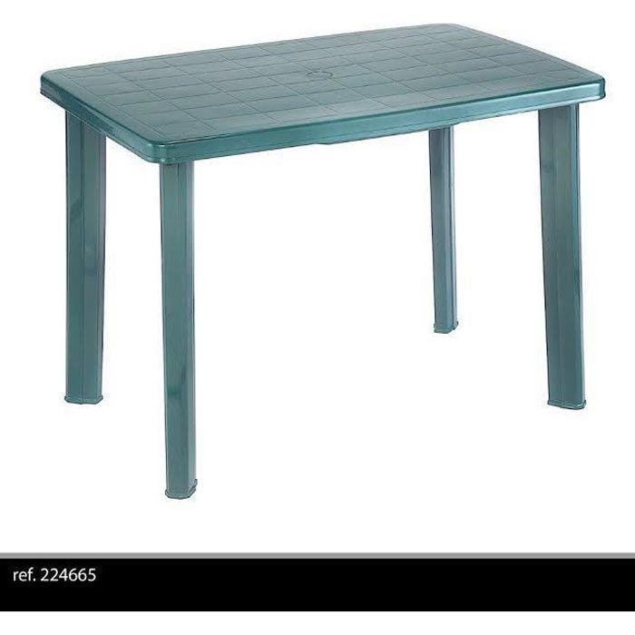 TABLE DE JARDIN DÉMONTABLE EN PLASTIQUE POUR CAMPING OU ...
